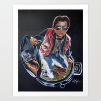 mcfly Art Prints featuring MARTY MCFLY by John McGlynn