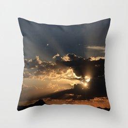 Desert Mountain Sunset II Throw Pillow