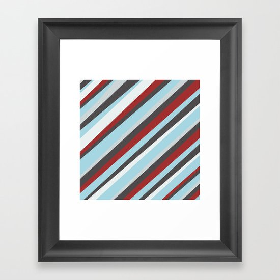 Diagonal : Pattern Framed Art Print