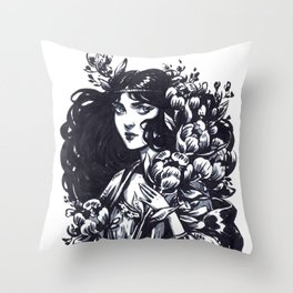 Flower Witch Throw Pillow
