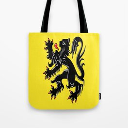 Flag of Flanders - Belgium,Belgian,vlaanderen,Vlaam,Oostende,Antwerpen,Gent,Beveren,Brussels,flamish Tote Bag