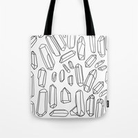 mineral Tote Bags featuring mineral by endlesstakeout