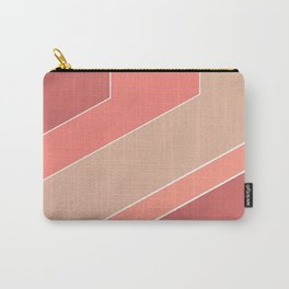 Terracotta , beige , abstract Carry-All Pouch