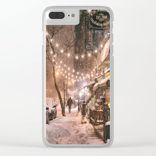 Snow - New York City - East Village Clear iPhone Case