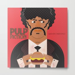 Pulp Fiction, Quentin Tarantino, Samuel L. Jackson, alternative movie poster Metal Print