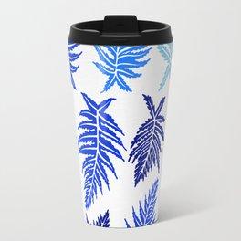 Inked Ferns – Blue Palette Travel Mug