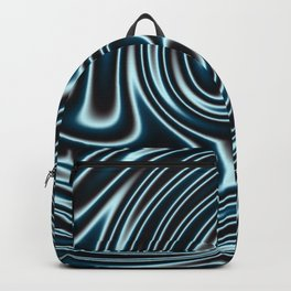 Blue and Black Licorice Ribbon Candy Fractal Backpack