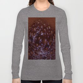 Cacao Bubbles Lens Distortion Long Sleeve T-shirt