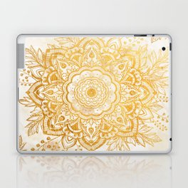 Queen Starring of Mandala-Gold Sunflower I Laptop & iPad Skin