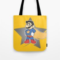 super mario Tote Bags featuring Super Mario by tshirtsz