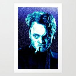 James Cagney, blue Madness. Art Print