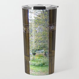 Through the barn door  Travel Mug