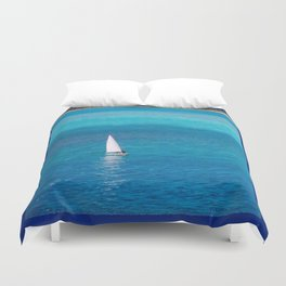 Perfect Blue Sailing Day Duvet Cover