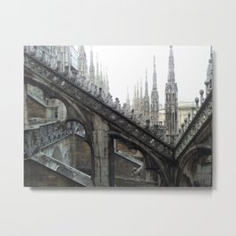 milan dome church cathedral italy architecture monument landmark Metal Print