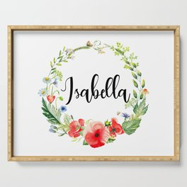Isabella Poppy Wreath Serving Tray