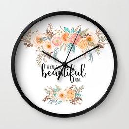 He calls me beautiful one. Song of Solomon 2:10 Wall Clock