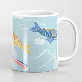 Koi carp kite day Japanese print pattern Coffee Mug