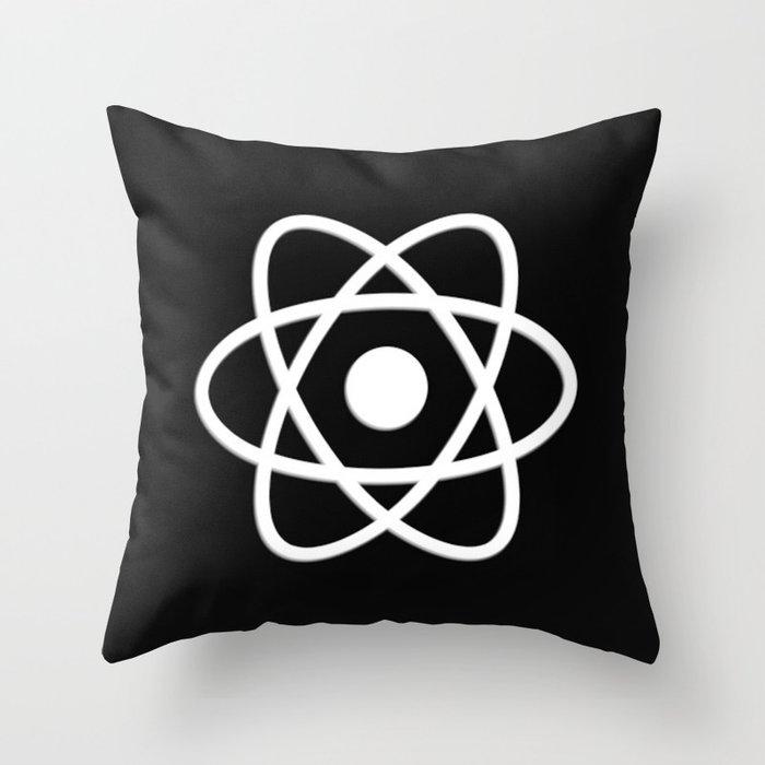 Atom   Science   Molecules Throw Pillow