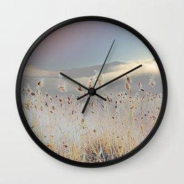 Reeds on Lake Lugano Wall Clock