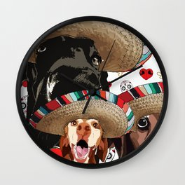 Cinco de Pup Wall Clock