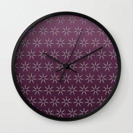 Scissors Star (wine ombre) Wall Clock