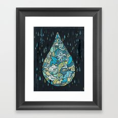 If heaven were a drop of rain Framed Art Print