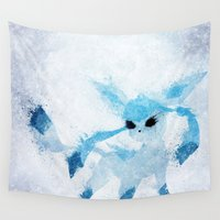ice Wall Tapestries featuring Ice by Melissa Smith