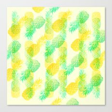Summer Pineapples Canvas Print