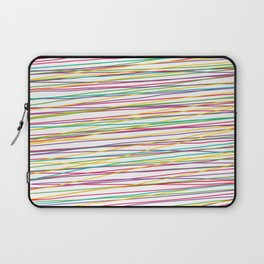 Colorful Abstract strips grid Laptop Sleeve