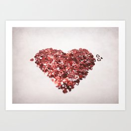 My Confetti Heart Art Print