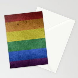 LGBTQ Rainbow Pride Flag (Weathered) Stationery Cards