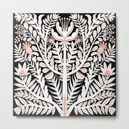 White folk floral Metal Print