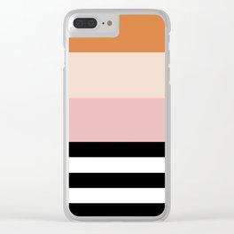 Aspen Cream Stripe Clear iPhone Case