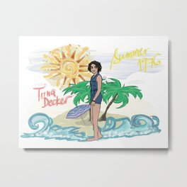 Lana Parrilla as Trina Decker (Swingtown) Metal Print