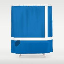 """IN"" – Hawk-Eye Shower Curtain"