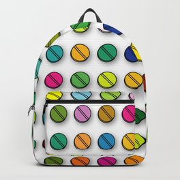 Multi-coloured Pills Pattern square Backpack