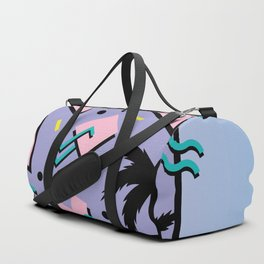 Memphis Pattern 25 - Miami Vice / 80s Retro / Palm Tree Duffle Bag