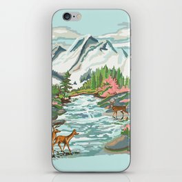 Paint by Number Mountain Medow iPhone Skin
