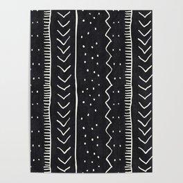Moroccan Stripe in Black and White Poster