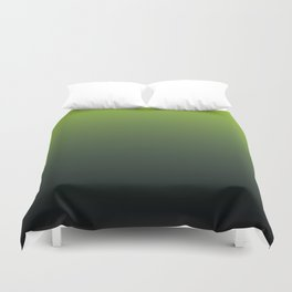 Ombre | Color Gradients | Gradient | Two Tone | Lime Green | Charcoal Grey | Duvet Cover