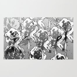 Gray bloom Rug