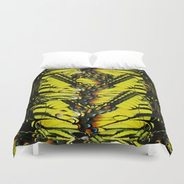 Monarch Dreams: Butterfly Wing Collage Duvet Cover