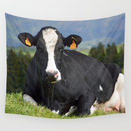 Cow portrait Wall Tapestry