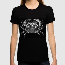Cool Aqua animal Crab Sketch design T-shirt