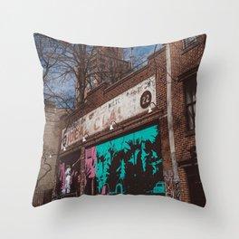 New York Street Artist Throw Pillow