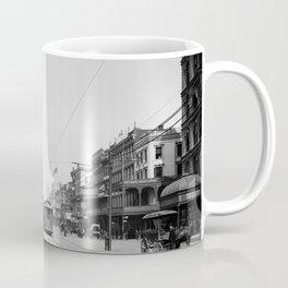 Vintage Canal Street New Orleans Streetcars 1907 Coffee Mug