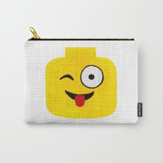 Winking Smile - Emoji Minifigure Painting Carry-All Pouch