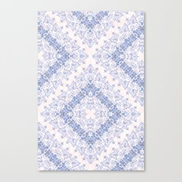 small sarasa floral in blue Canvas Print