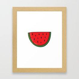 Colorful hand drawn juicy watermelon Framed Art Print