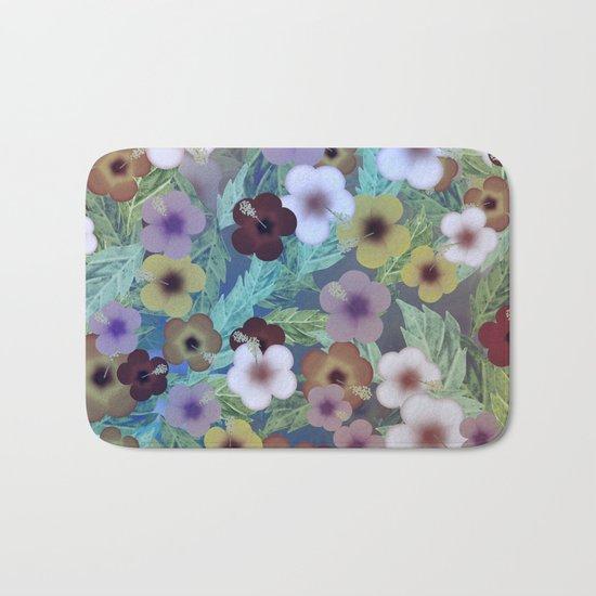 Hibiscus, The Moonlit Garden Bath Mat